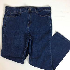 NYDJ Marilyn straight jeans size 14